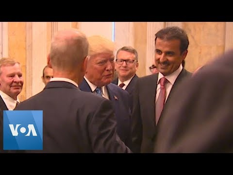 Trump Attends White House Dinner for Qatar Emir