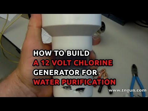 Water Purification Using a DIY 12 volt Chlorine Producing Unit