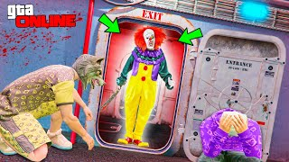 EXTREME CLEANING FROM SCARY CLOWN CHALLENGE IN GTA 5 ONLINE
