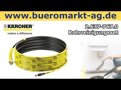 Rohrreinigungsset Karcher Pc 15 2 637 767 0 Youtube