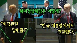 북미정상회담과 트럼프의 거침없는 답변(feat. 김정은에 대한 그의 생각)