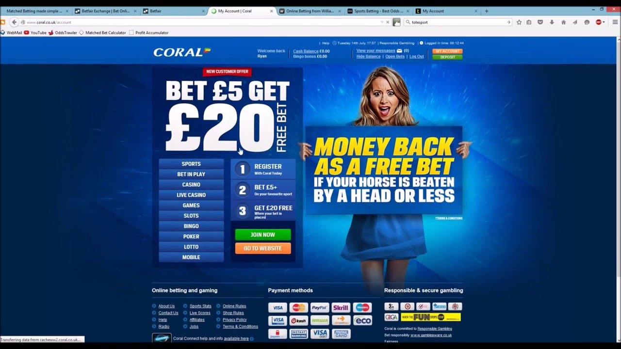risk free matched betting online