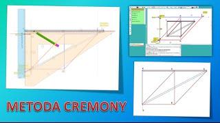Kratownica - plan sił Cremony