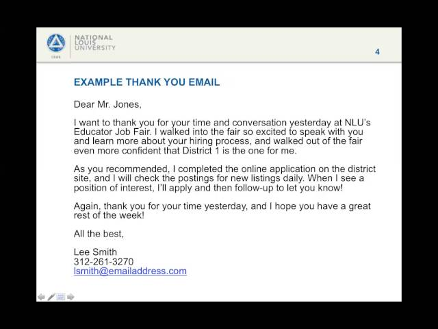 job fair thank you email