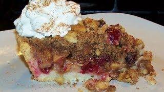 Cranberry Apple Crumb Pie - Gluten Free Recipe