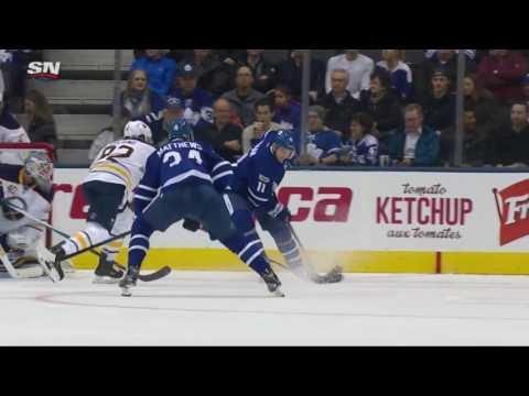 Auston Matthews 22nd NHL Goal!  1/17/2017 (Buffalo Sabres vs Toronto Maple Leaf)
