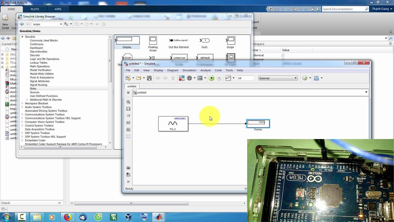 Matlab arduino Đo điện áp bằng và vẽ đồ
