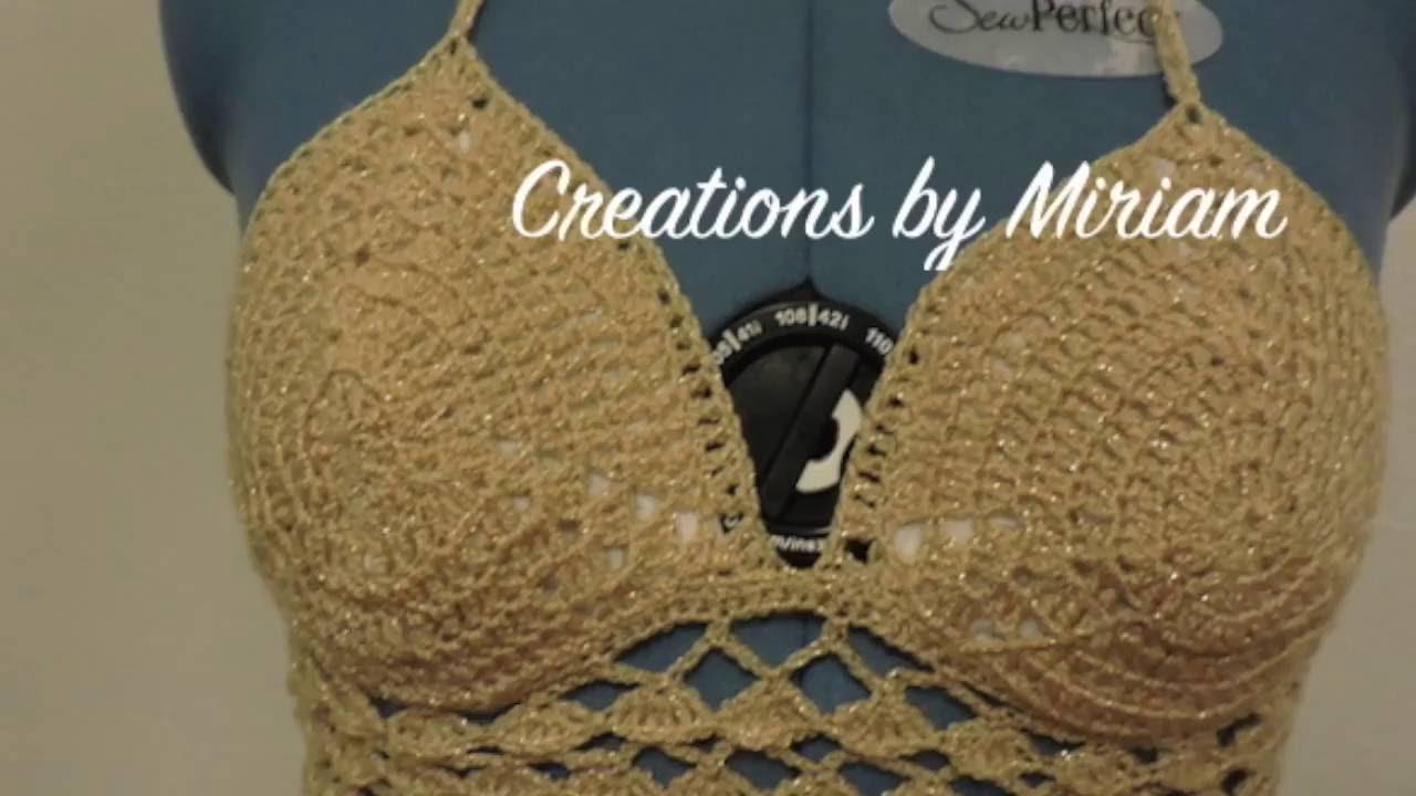 how to make crochet crop top