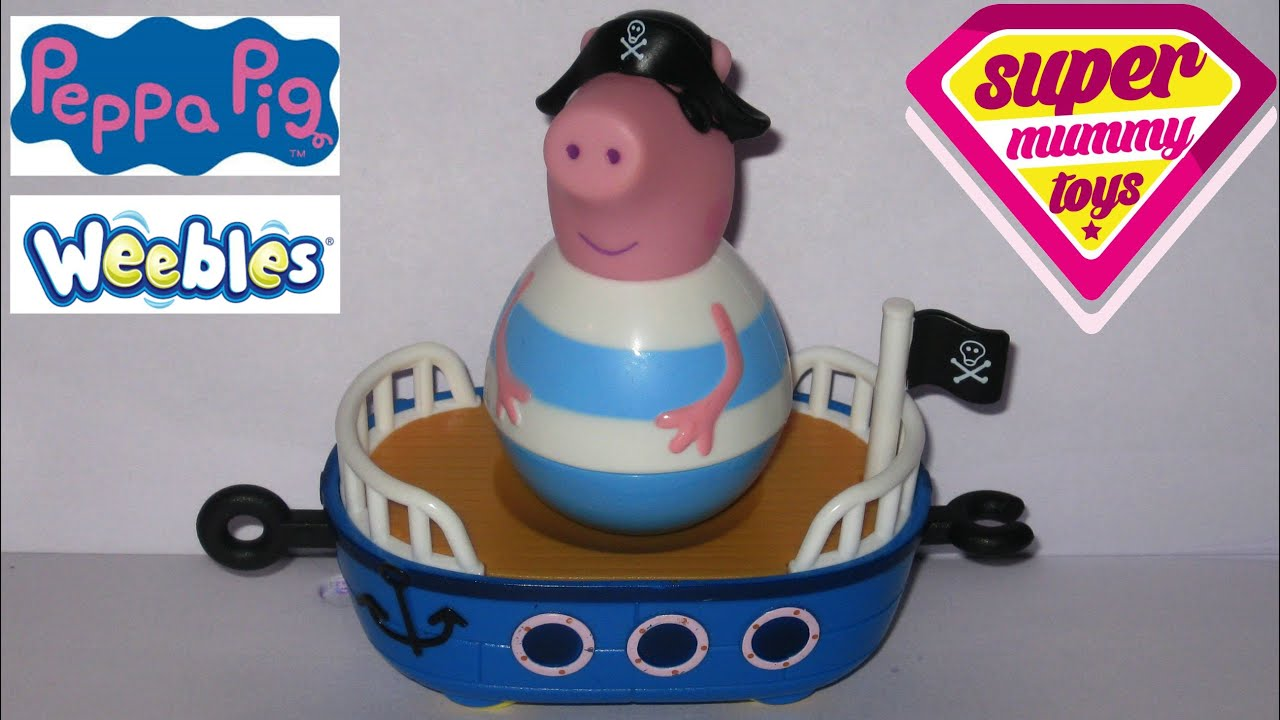 Peppa pig weebles pirate george toy wutz spielzeug