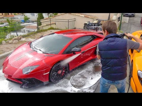 The Car Washer Owns A Lamborghini Aventador SV