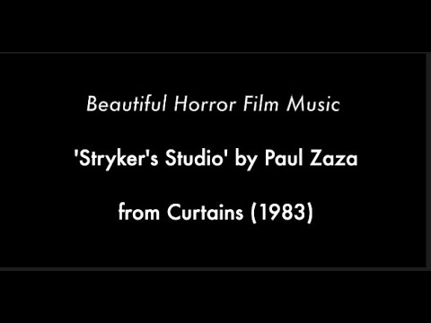 Beautiful Horror Film Music 'Stryker's Studio' by Paul Zaza from Curtains (1983)