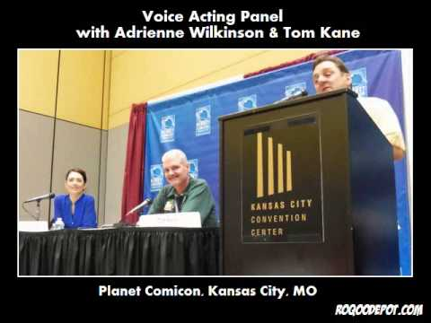 Voice Acting Panel with Adrienne Wilkinson and Tom Kane at Planet Comicon 2013