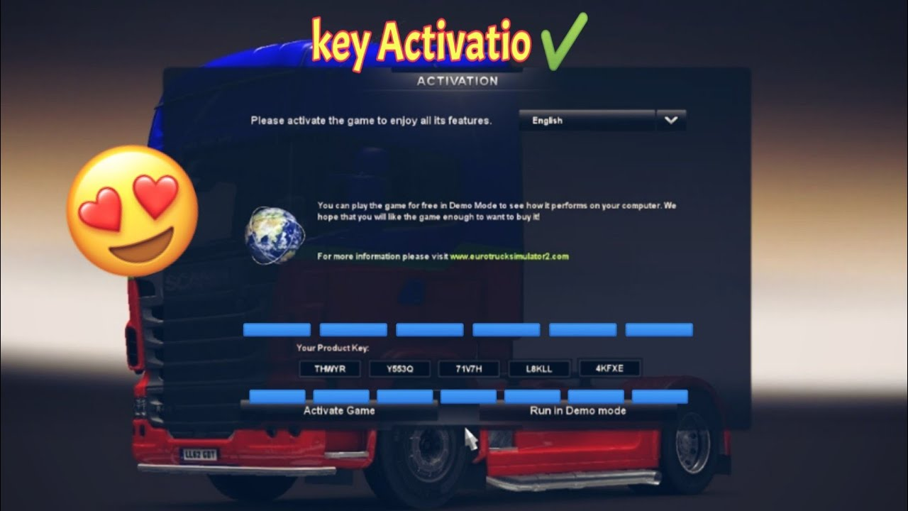 Euro truck simulator 2 : activation key free 1000000% works 2019