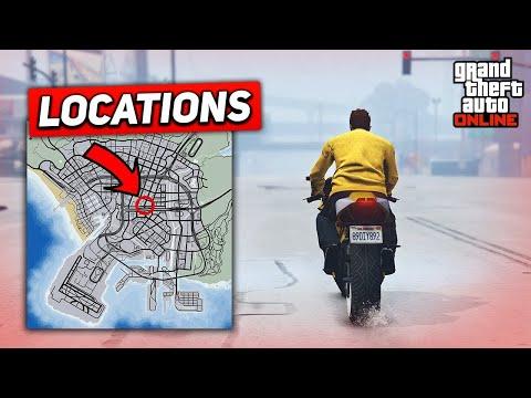 TOP 10 MOTORBIKE STUNT SPOTS FOR BEGINNERS! - (GTA 5 Stunts)