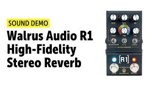 Walrus Audio R1 High-Fidelity Stereo Reverb - Sound Demo (no talking)