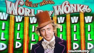 "WORLD OF WONKA SLOT - **NEW ""LIVE"" LOOK** - ALL LIVE PLAY!! - Slot Machine Bonus"