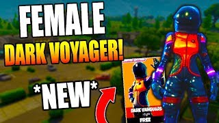 "*NEW LEGENDARY ""DARK VANGUARD"" SKIN GAMEPLAY IN FORTNITE BATTLE ROYALE! FEMALE DARK VOYAGER SKIN!"