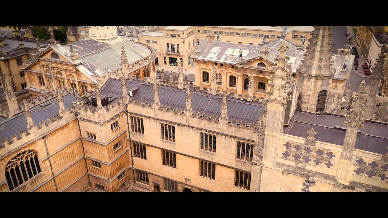 Oxford University by drone