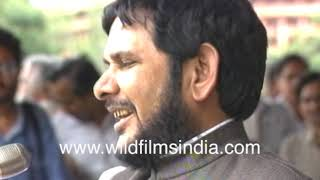 Sharad Yadav as young politician during a rally attended by thousands | Archival Footage