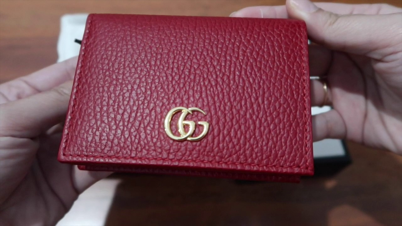 buy popular 616d1 c76ae Gucci Card Case / Compact Wallet Unboxing