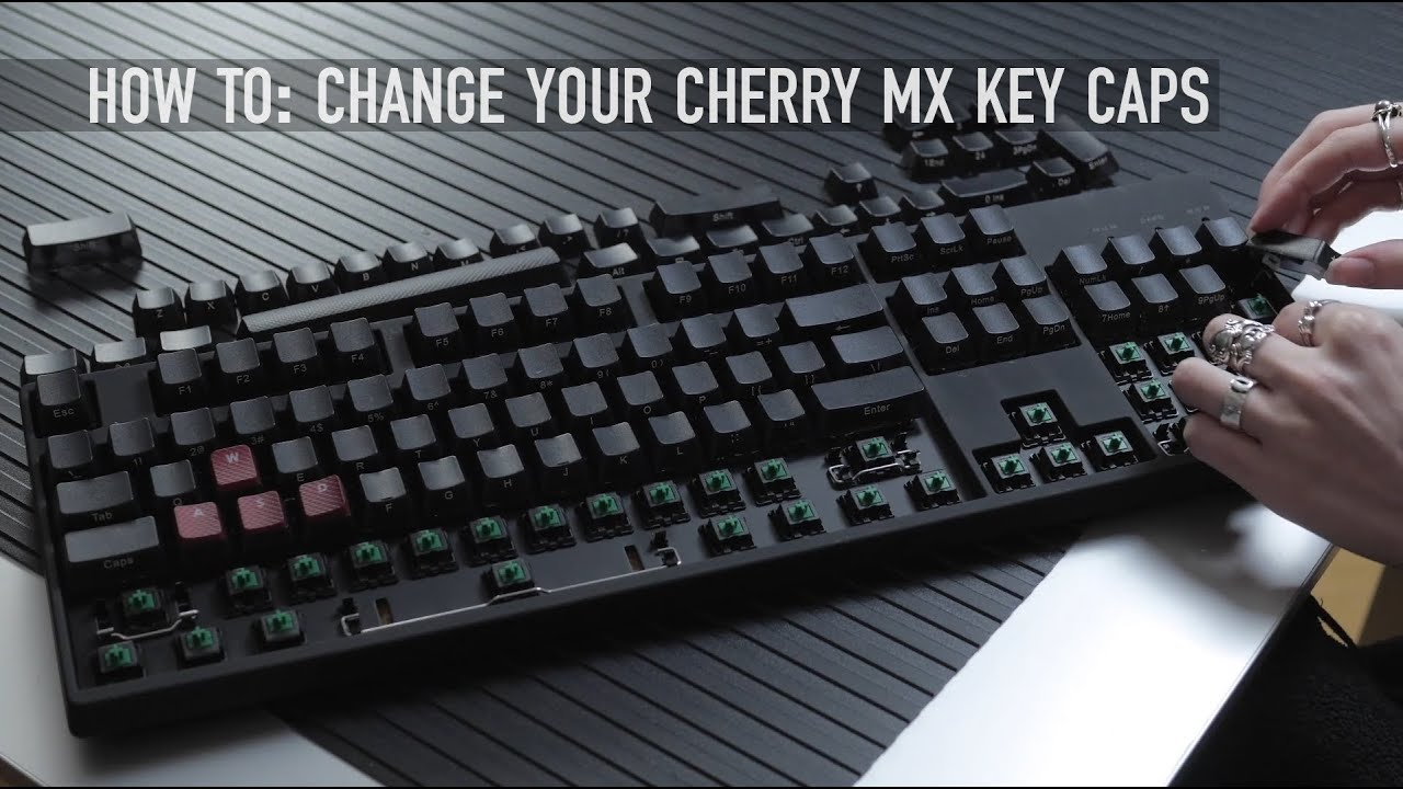 How To Change Your Cherry MX Keycaps | Pistol's Keyboard Mod
