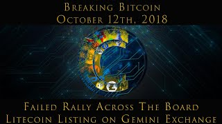 Breaking Bitcoin Oct. 12 - Failed Rally Across the Board - Litecoin on Gemini