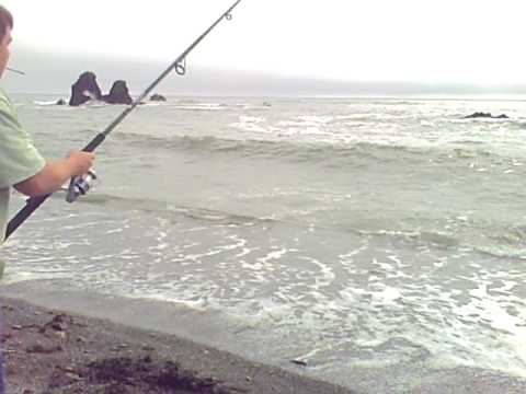 Surf fishing in brookings or youtube for Fishing brookings oregon