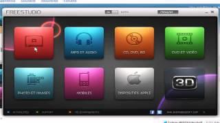 FreeStudio 3D 2013  graver télécharger convertir dans tout formats/vidéo/musiques/photos