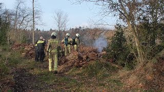 Brand in bos tussen Westervelde en Zuidvelde