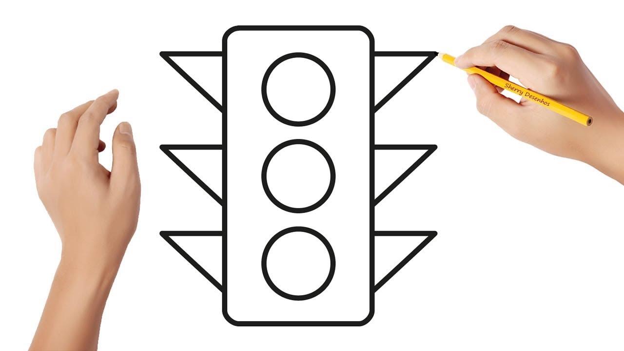 Como desenhar um semáforo - YouTube