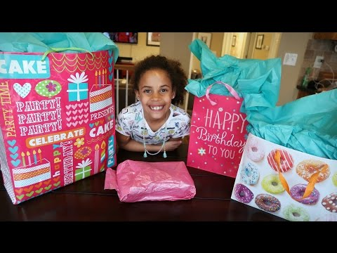 OPENING BIRTHDAY PRESENTS