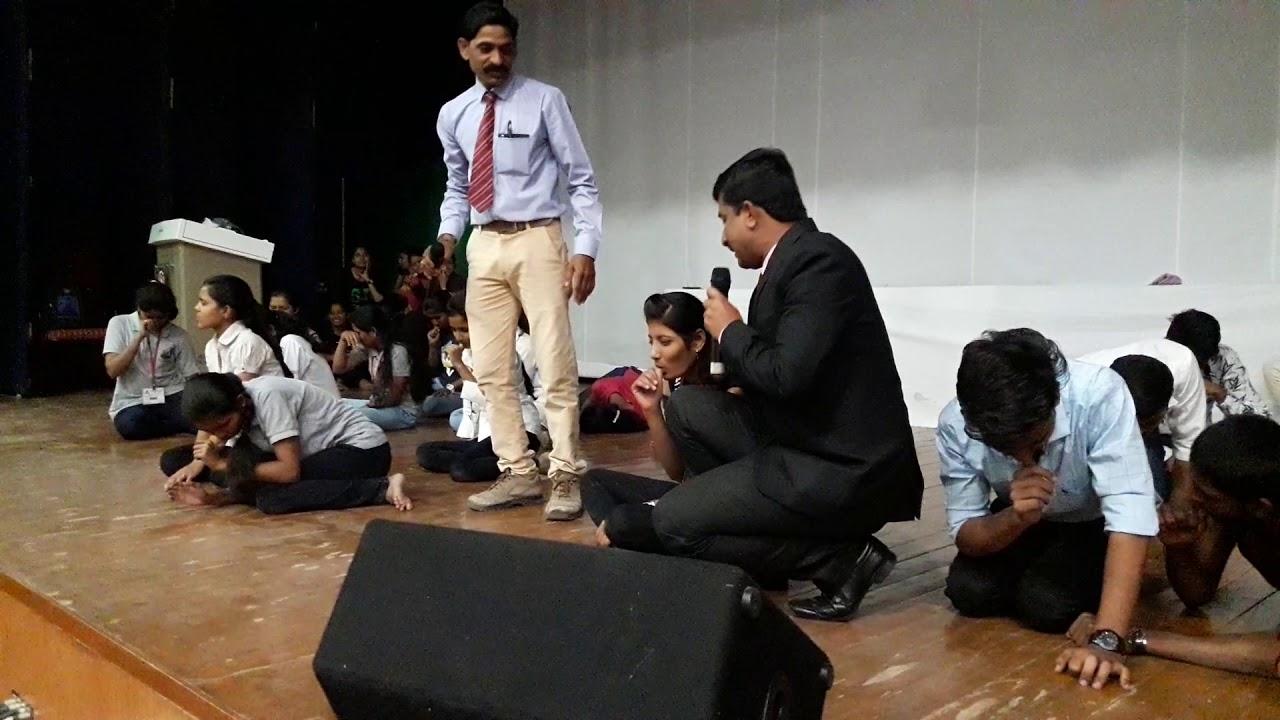 Hypnotism show Baramati Dr.Rajkumar Shikhare Best ...