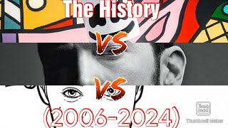 The History (2006-2024) Justin Bieber vs Marshmello vs EminemMusic.