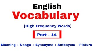 English Vocabulary for Bank po and SSC CGL | In Hindi Part 14
