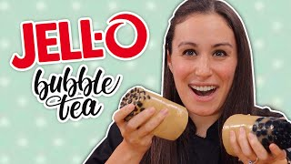 DIY Jello Bubble Tea // 3 Ways