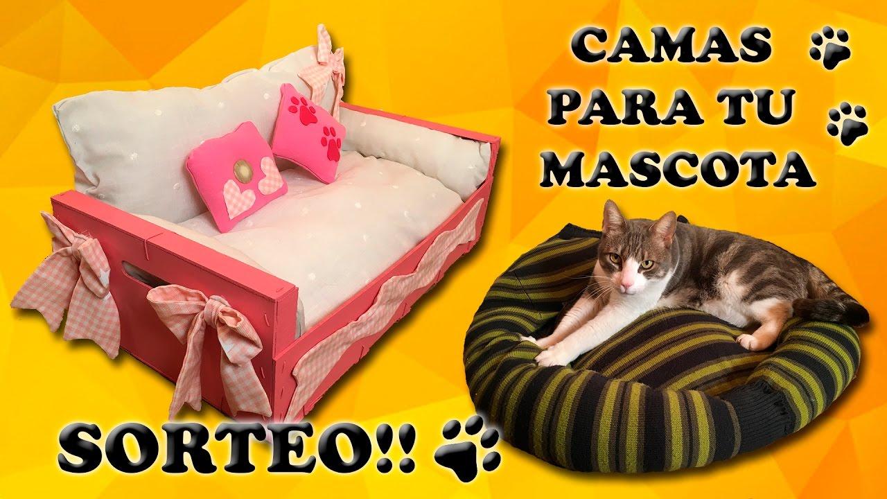 Cómo Hacer Una Cama Para Perros O Gatos Diy Mascotas Youtube