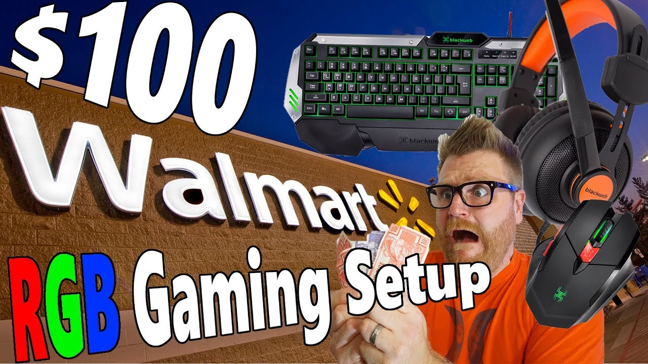 Bad Gaming Setup Walmart Gaming Mouse Keyboard Headset How Bad Could They Be