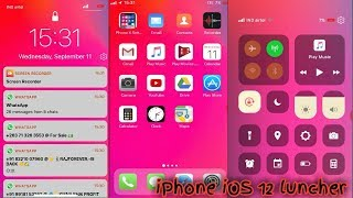 How to install iOS 12 ilauncher & control center   phone x launcher iOS 12 iPhone screenshot 5