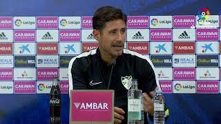 Rueda de prensa de  Víctor Sánchez del Amo tras el Real Zaragoza vs Málaga CF (2-2)