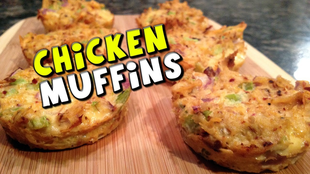 Chicken muffins recipe low carbhigh protein youtube forumfinder Gallery
