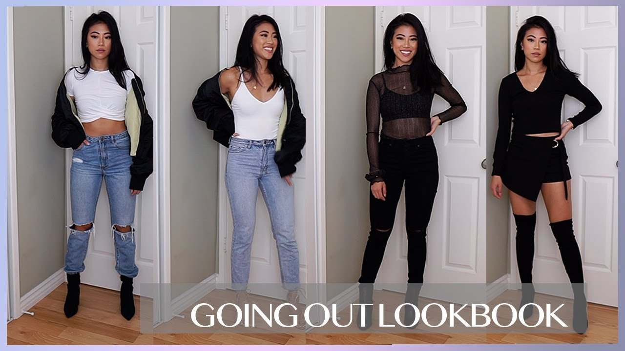 GOING OUT OUTFIT IDEAS  NIGHT OUT LOOKBOOK