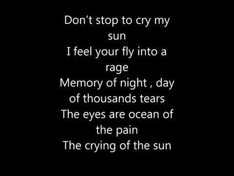 Metal Wings - Crying of the sun(lyrics)