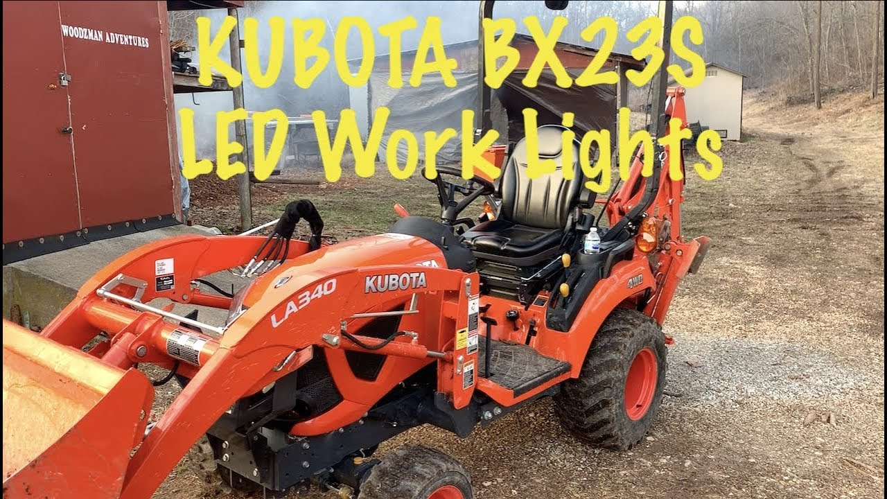 Kubota Bx23s Led Work Lights Bx Tractor Youtube