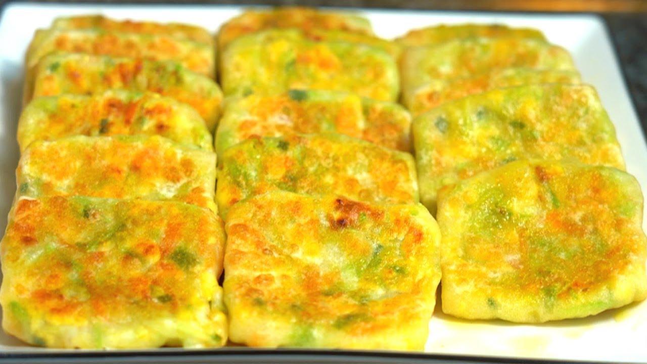 西葫蘆餡餅的懶人做法,不用和麵,薄皮大餡,又脆又香,一頓10個不夠吃【娟子美食】