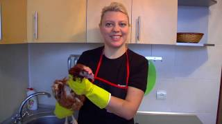 Задание жениха Турка для невесты Украинки зарезать 4 курицы !!!