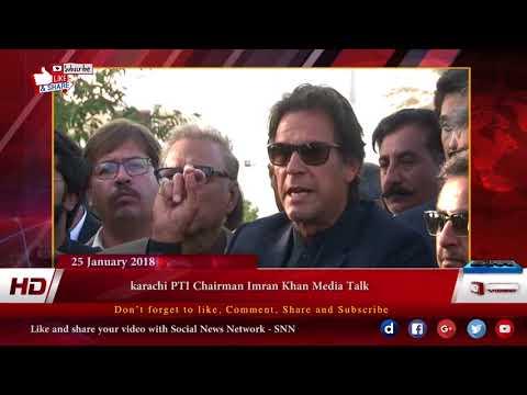 karachi PTI Chairman Imran Khan Media Talk 25 december 2018