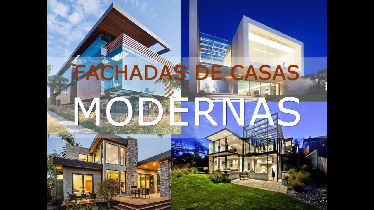Fachadas de casas modernas em 32 ideias youtube for Casas modernas terreras