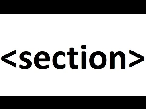 Learn HTML Code: Section