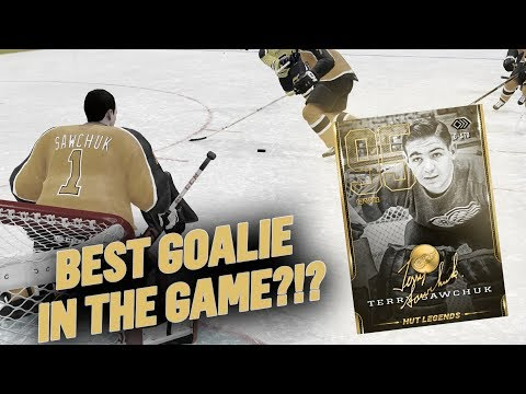 BEST GOALIE IN THE GAME?!? 95 LEGEND TERRY SAWCHUK DEBUT! | NHL 19 HUT