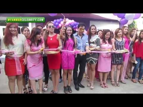 Academy May Than Nu Opens 1st Lady Beauty Salon: May Than Nu, a well-known academy actress, has opened a Hair & Beauty Salon in Mya Thidar Housing in Yangon together with her sister, May Oo Khin. The opening event of 1st Lady Hair & Beauty Salon was held on May 12, 2013 and many of Myanmar celebrities showed up at the event.  Visit: http://www.myanmarcelebrity.com/ For More Myanmar Celebrities' News, Photos, Videos and Gossips.